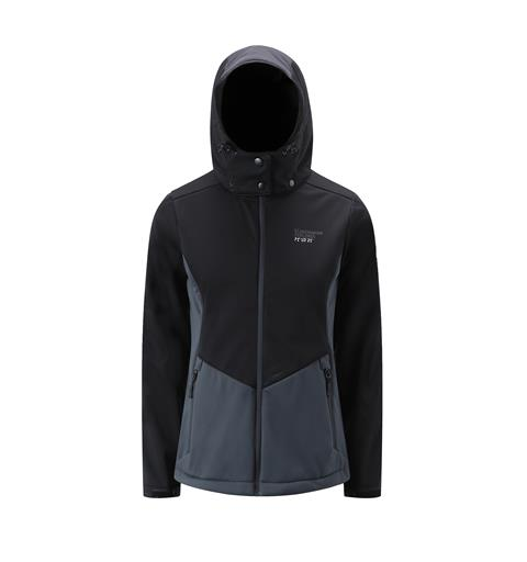 Softshell dame sort/ grå XS
