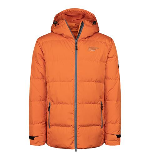 Dunjakke unisex vinter orange S